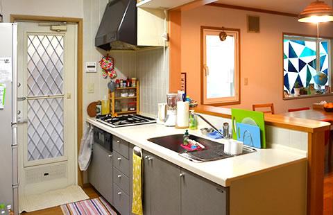 キッチンとお風呂のリフォーム工事イメージ01