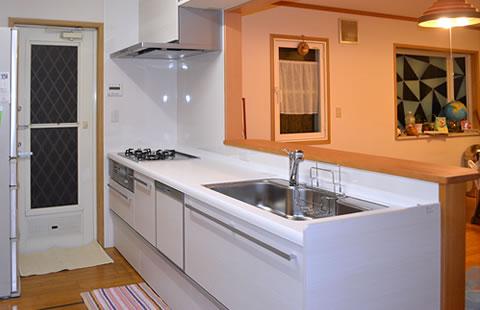 キッチンとお風呂のリフォーム工事イメージ02